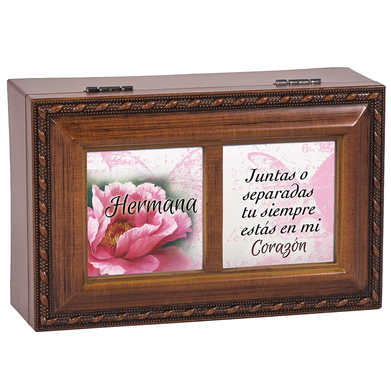Amazon.com: Cottage Garden Hermana Sister Wood Finish Small Jewelry Music Box Thats What Friends are: Home & Kitchen