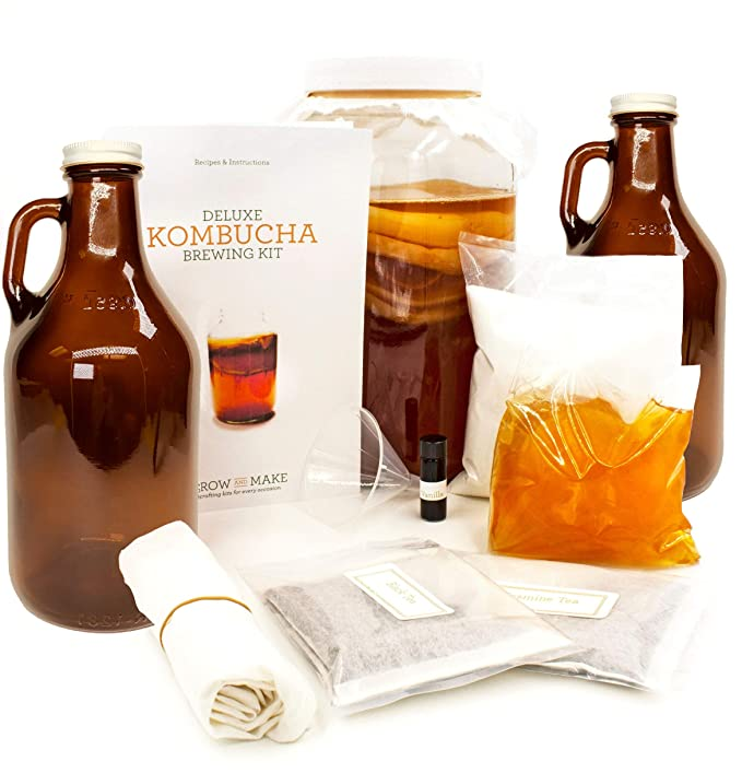 Grow and Make Kombucha bricolaje Deluxe 3 galones Kit de ...