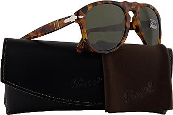 05eb67b58966f Persol PO0649S Sunglasses Havana w Green Lens 10524E 54mm PO 649
