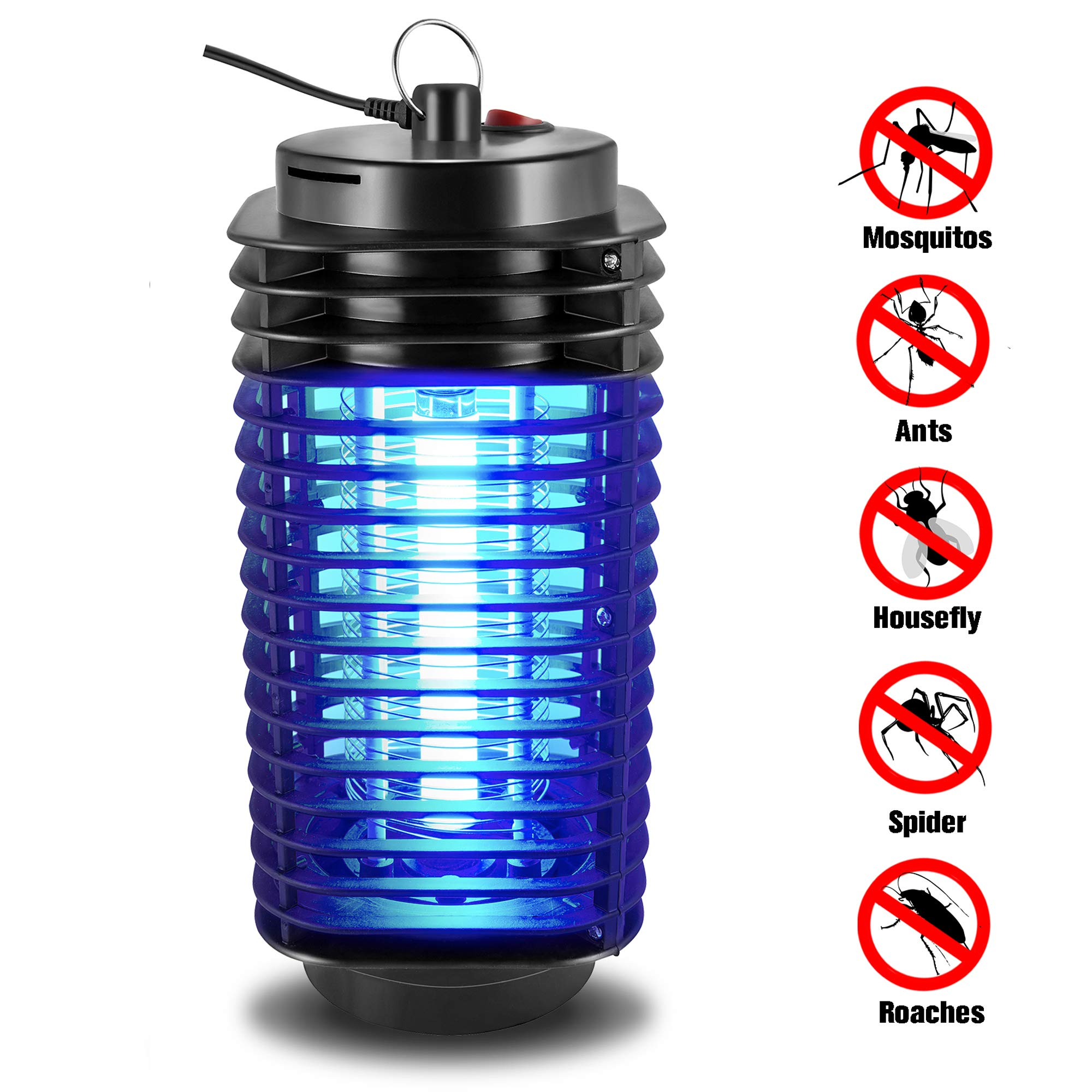 XMSTORE Bug Zapper, Electric Flying Zapper with UV Light, Portable Standing or Hanging for Indoor Use by XMSTORE