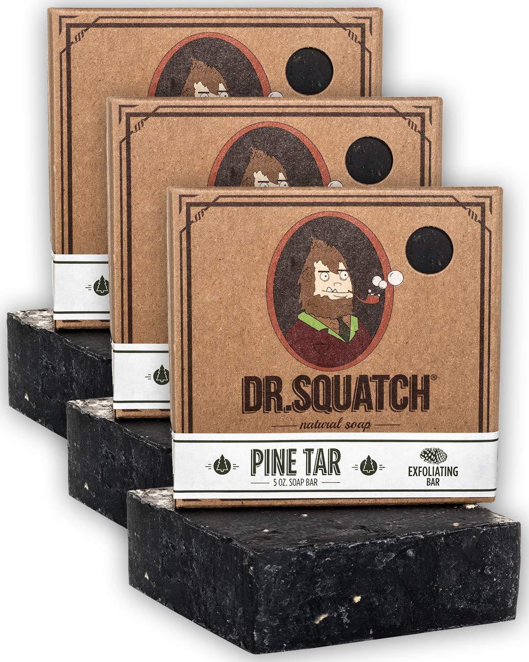 Dr. Squatch Men's Soap Sampler Pack (3 Bars) – Pine Tar, Cedar Citrus, Bay Rum Bars – Natural Manly Scented Organic Soap for Men (3 Bar Bundle Set) : Beauty