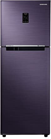 Samsung 253 L 2 Star Frost Free Double Door Refrigerator(RT28N3722UT/HL, Pebble Blue, Inverter Compressor)