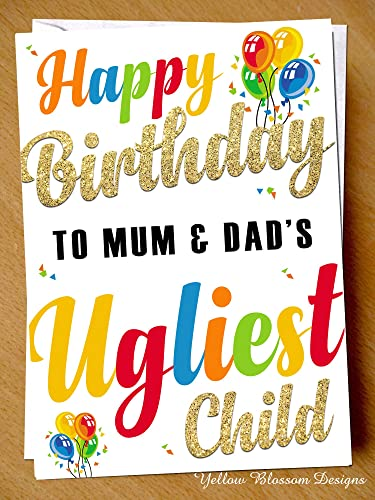Comical Funny Birthday Greeting Card Happy To Mum Dads