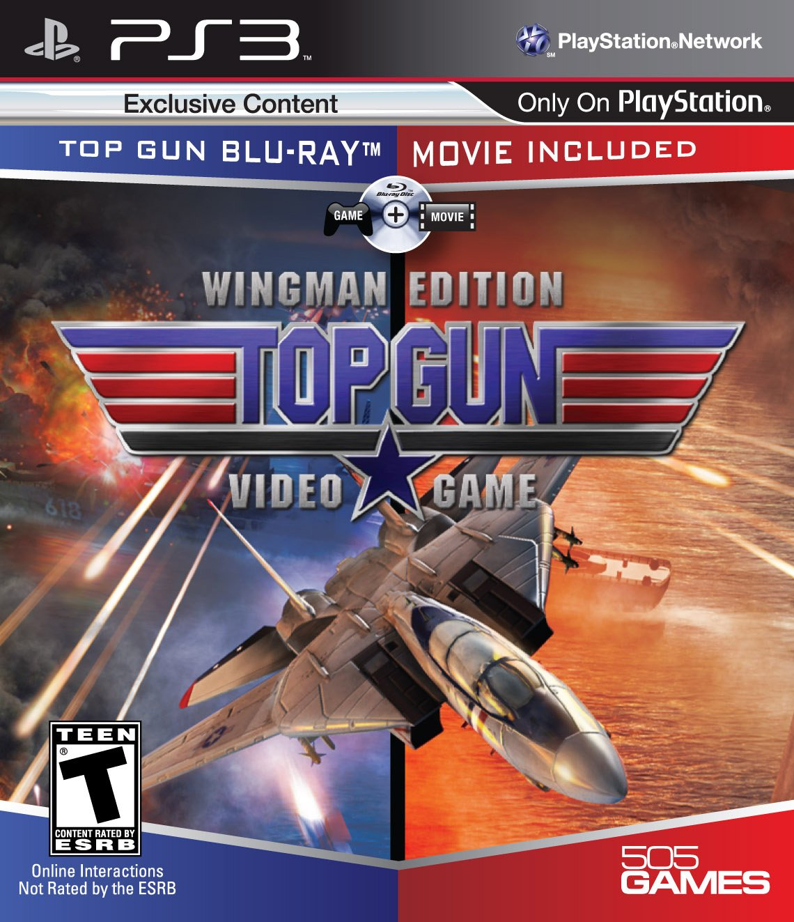 Amazon Com Top Gun The Video Game Wingman Edition Game Movie Playstation 3 Video Games