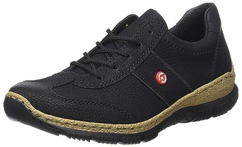 Rieker N3220, Zapatillas para Mujer, Negro (Schwarz/Fumo), 39 EU