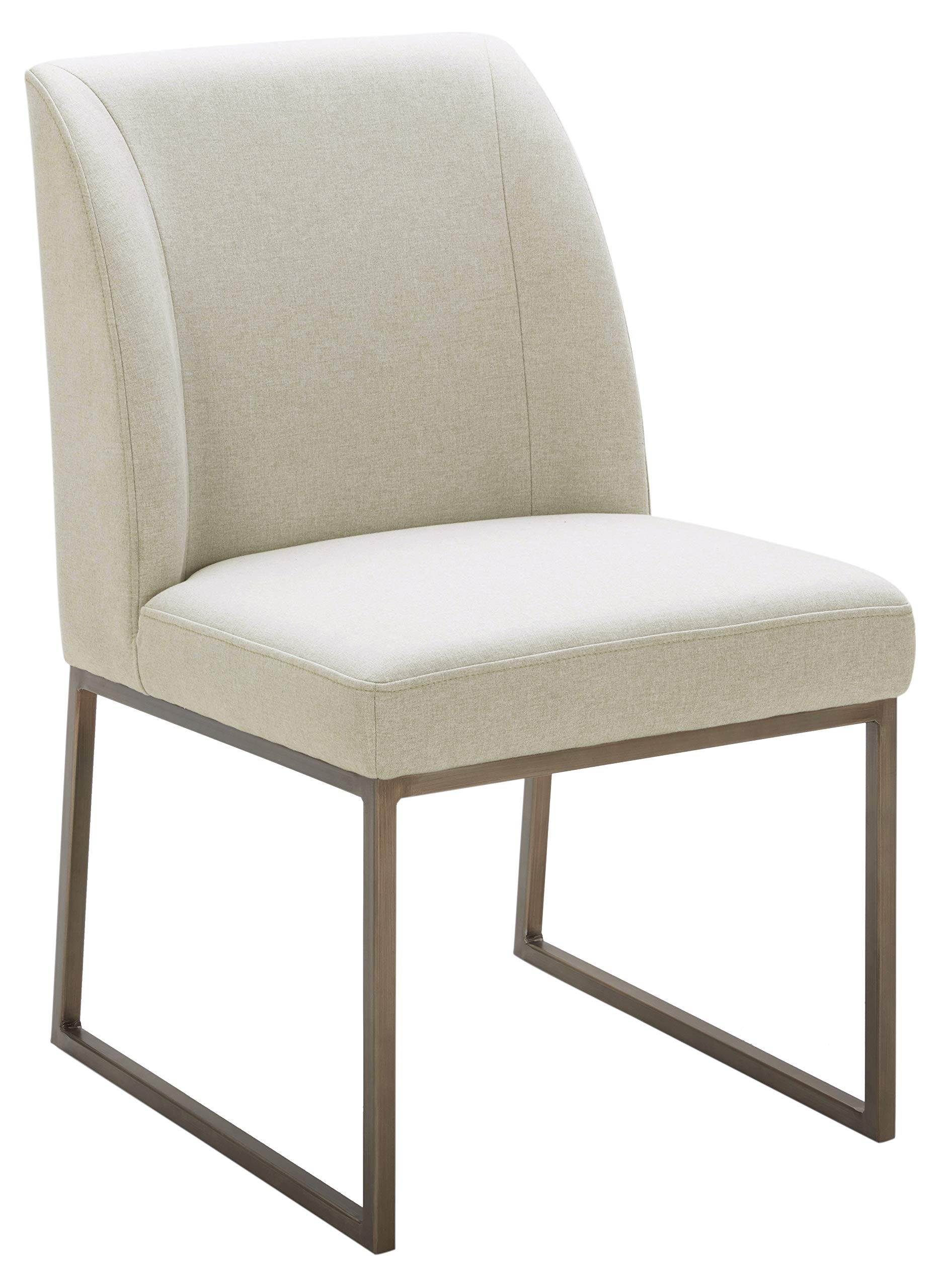 Rivet Contemporary Dining Chair, 34''H, Chalk by Rivet
