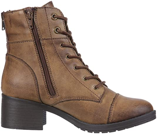 Rampage Krista Damenschuhe Lace up Chunky Heel Combat Boot ... c3978d