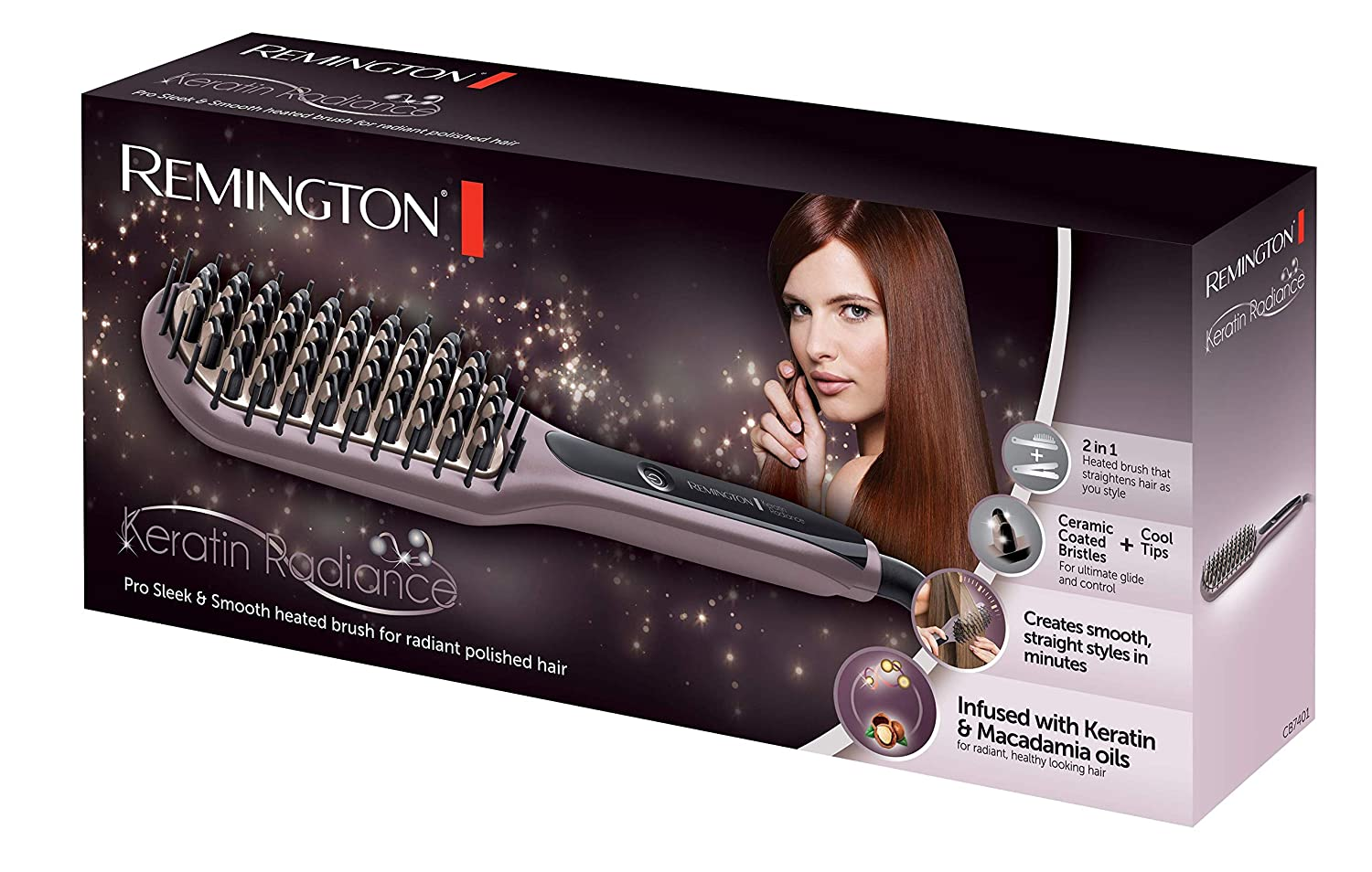Remington Keratin Radiance Negro, Color blanco Intraaural Dentro de oído auricular: Amazon.es: Salud y cuidado personal