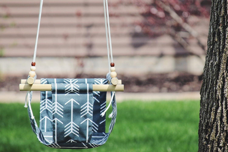 Indoor/Outdoor Blue Arrow Fabric Swing