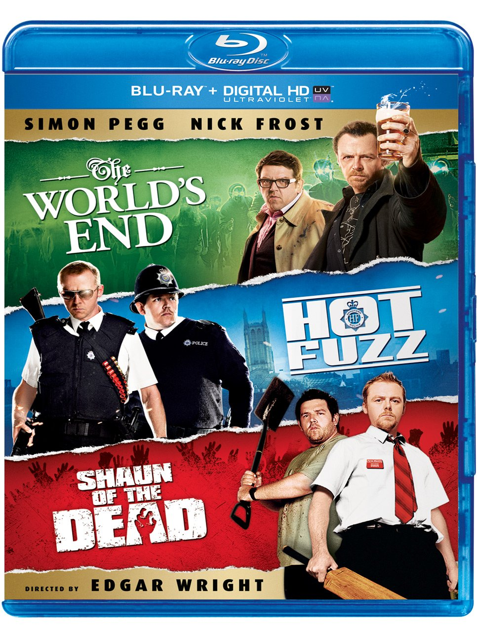 Blu-ray : The World's End / Hot Fuzz / Shaun of the Dead (Ultraviolet Digital Copy, 3 Pack, Snap Case, Slipsleeve Packaging, 3 Disc)