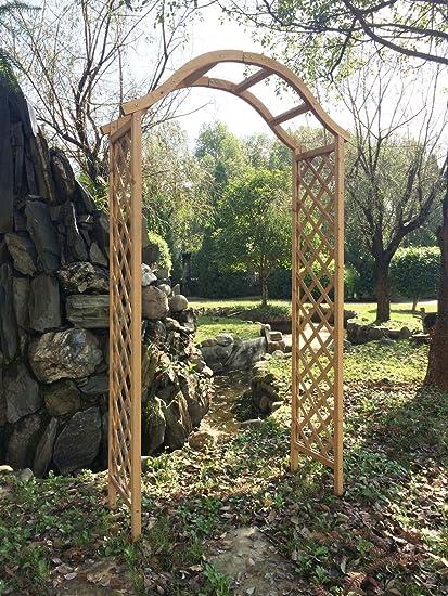 Arco de madera para jardín pérgola enrejado planta apoyo arco ...