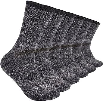 YingDi Mens Winter Australian Merino Wool Cushion Hiking Crew Socks - Pack of 3 Pairs