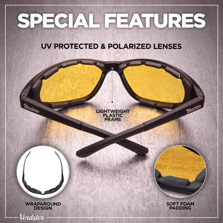 faltbarer Rahmen komfortabler verbesserter ideal zum Fahren Verdster Airdam Polarisierte Motorrad Sonnenbrillen UV gesch/ützter