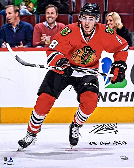 """ac4f17f71d7 Nick Schmaltz Chicago Blackhawks Autographed 16"""" x 20"""" NHL Debut  Photograph with NHL Debut"""