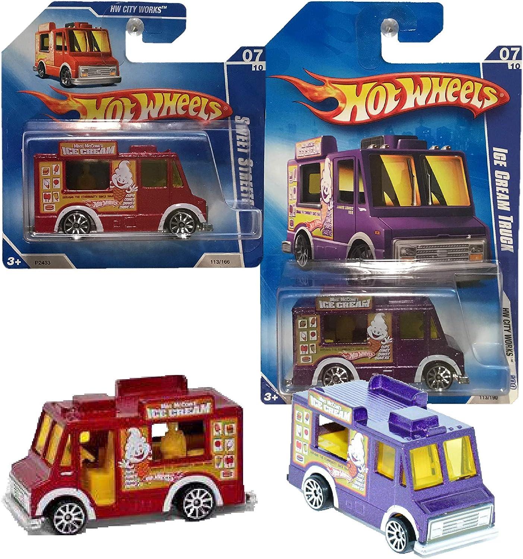 113//190 1 Each Hot Wheels 2009 City Works 1983 Ice Cream Truck 07 of 10