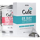 Premium Teatox - Organic Detox Tea Bags For Weight Loss - Caffeine and Laxative Free - Great Tasting Vegan Herbal Appetite Suppressant for Body Cleanse and Bloating - Free Detoxing eBook - 28 Day