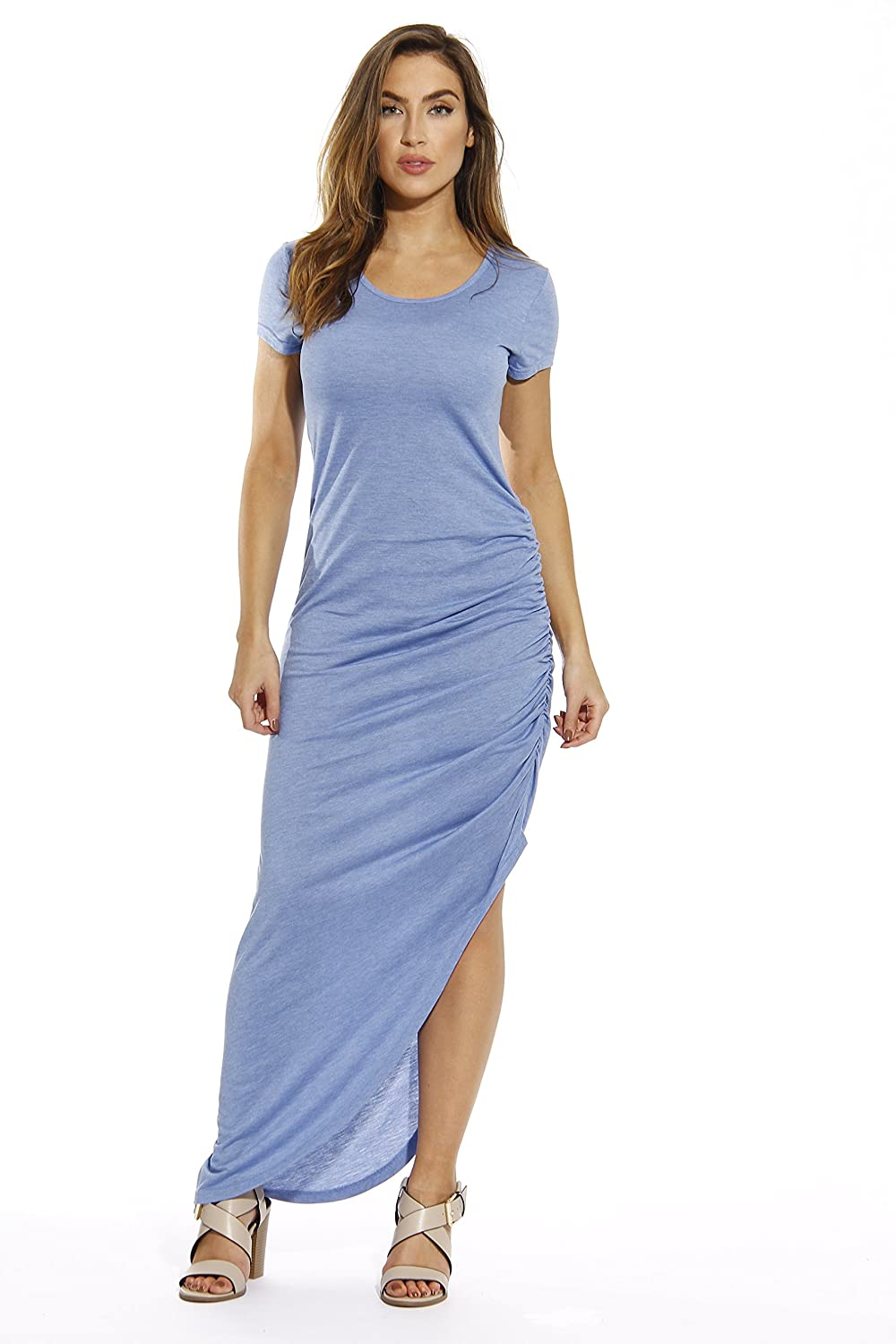 c82008d21ab4 WALK OUT IN STYLE  Turn heads wherever you go with Just Love s hi low dress.  With its asymmetrical hem