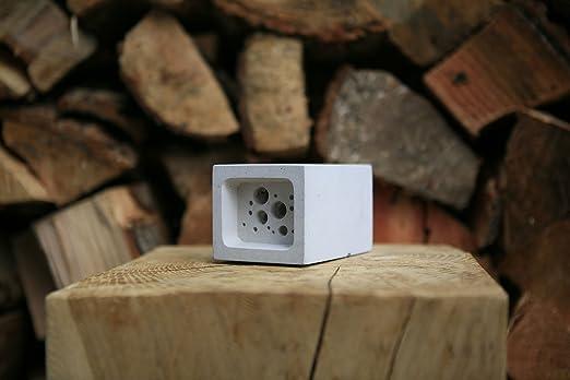 Pequeño nido de bloque de Bee Hotel abejas Colmena Casa 6,5 cm x 7 ...