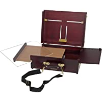 Soho Urban Artist Pochade Box for Plein Air Painting Easel with Storage, Lightweight & Portable, Mahogany Finish