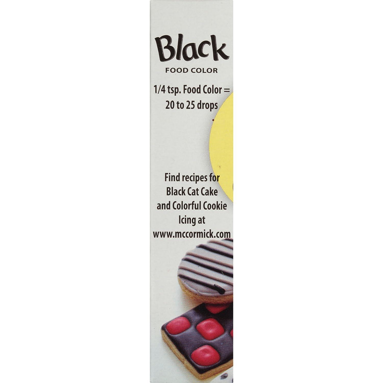 Amazon.com : McCormick Black Food Color, 1 fl oz : Food Coloring ...