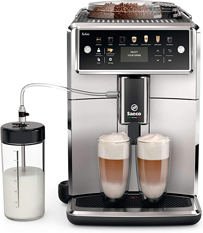 Saeco Xelsis SM7581/00 - Cafetera (Independiente, Máquina espresso, 1,7 L, Granos de café, De café molido, Molinillo integrado, Negro, Plata): Amazon.es: Hogar