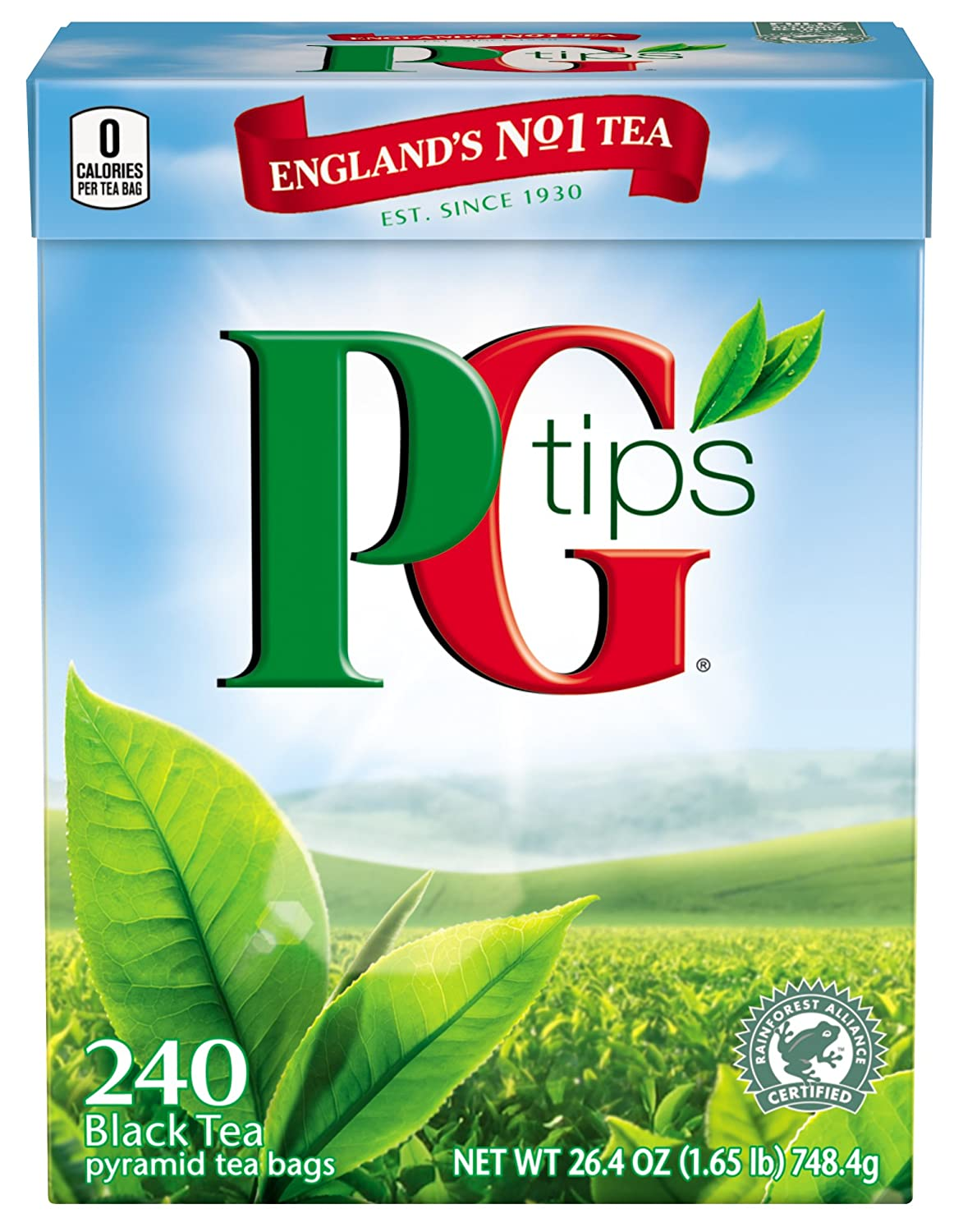 PG Tips Black Tea, Pyramid Tea Bags, 240-Count Box (Pack of 2) 10667803001053
