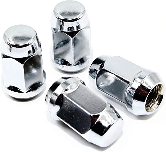 Set of 20 Veritek 12x1.5mm 1.4 35.5mm Overall Length 3//4 19mm Hex 1 Piece Chrome Acorn Bulge Conical Seat Lug Nuts