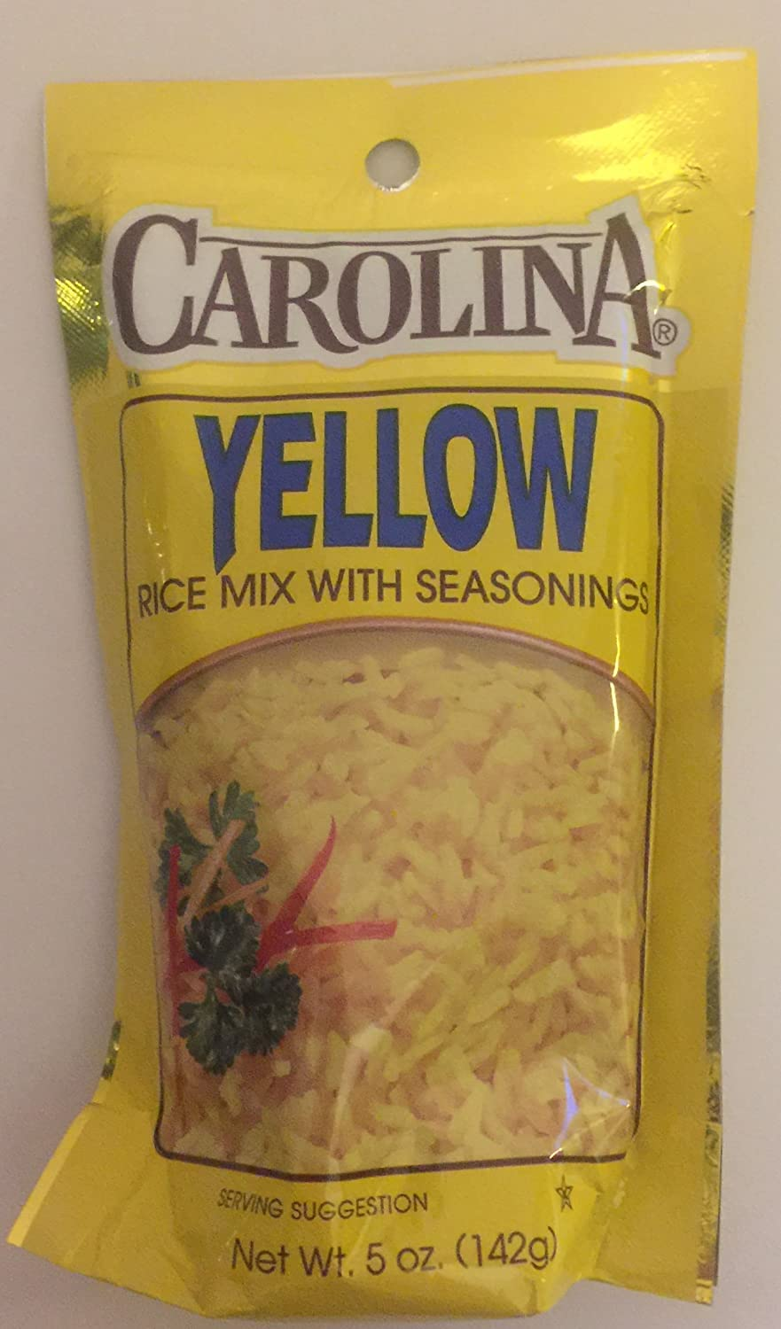 Amazon Com Carolina Yellow Rice Mix With Seasoning 5 Ounce Pouches Pack Of 6 Grocery Gourmet Food