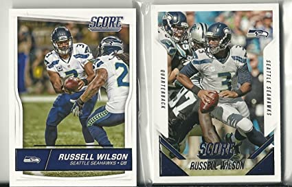 2015   2016 Panini Score Football Seattle Seahawks Team Set 30 Cards ... a09cde882