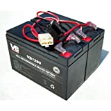 Dune buggy Razor Battery Replacement - Includes Wiring Harness (8 ah capacity - 24 volt system) by Vici Battery™