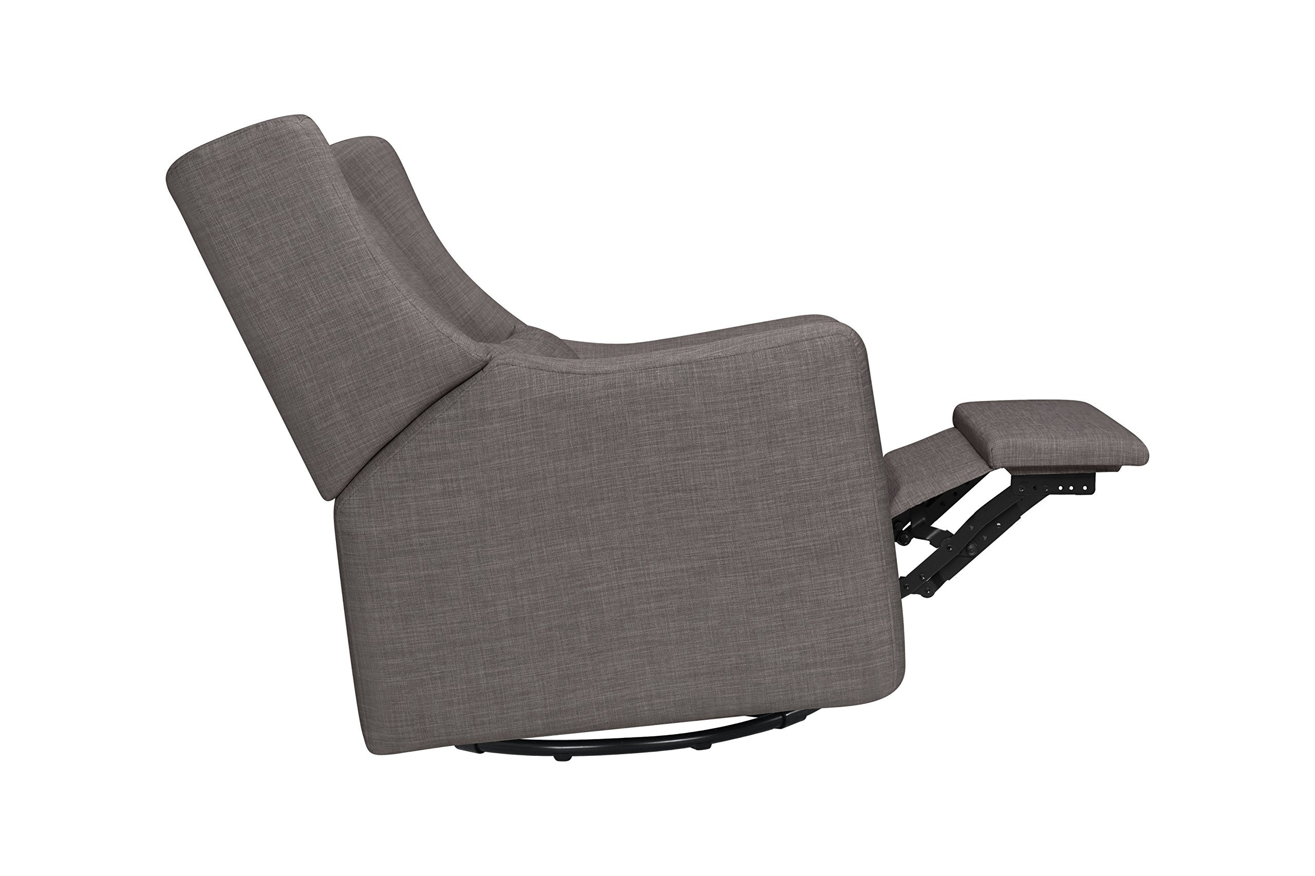 Babyletto Kiwi Electronic Recliner and Swivel Glider with USB Port, Grey Tweed by babyletto (Image #10)