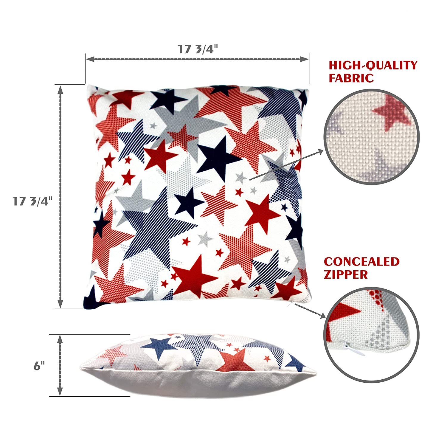 Image 4 of Holiday Pillow Covers, Set of 2