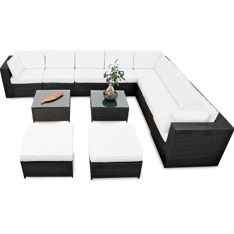 Amazon.de: XINRO® erweiterbares 35tlg. Lounge Polyrattan XXXL ...