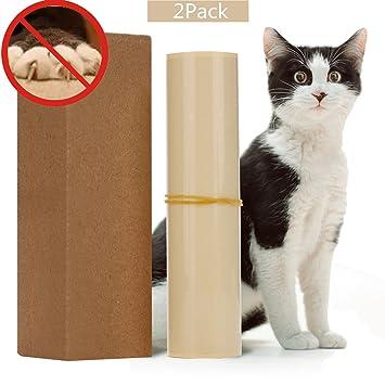 Protector de sofá para mascotas, 2 unidades de protectores de garras transparentes para mascotas con almohadillas autoadhesivas, protector de arañazos para ...