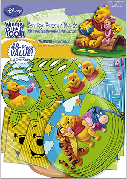 Lot 24 pcs Winnie The Pooh Party Favor Goody Gift Bag Children/'s Party Supply