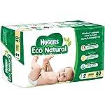Huggies Eco Natural Pañales Ecológicos para Bebé, Etapa 2, 40 Piezas