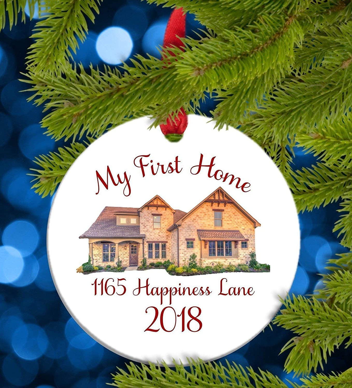 Flowershave357 My First Home Ornament Housewarming Gift Closing Gift for Buyer My First Home Christmas Ornament Personalized My First Home 2020