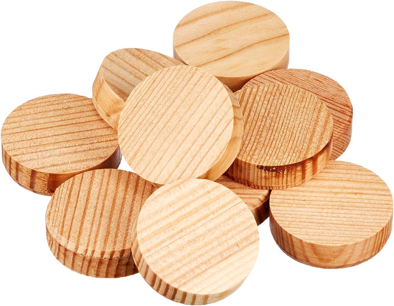 Secotec Cross Wooden Disc//astdübel//Spruce Ø 35 MM//15 Piece