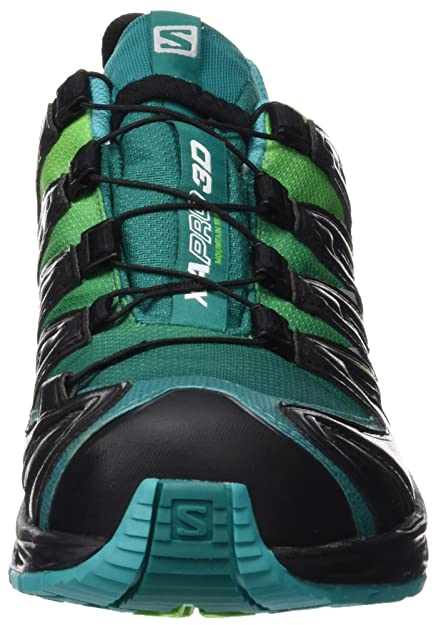 Salomon Damen L39071300 Traillaufschuhe, Grn (Veridian Green/Tonic Green/Teal Blu Veridian Green/Tonic Green/Teal Blu), 42 EU