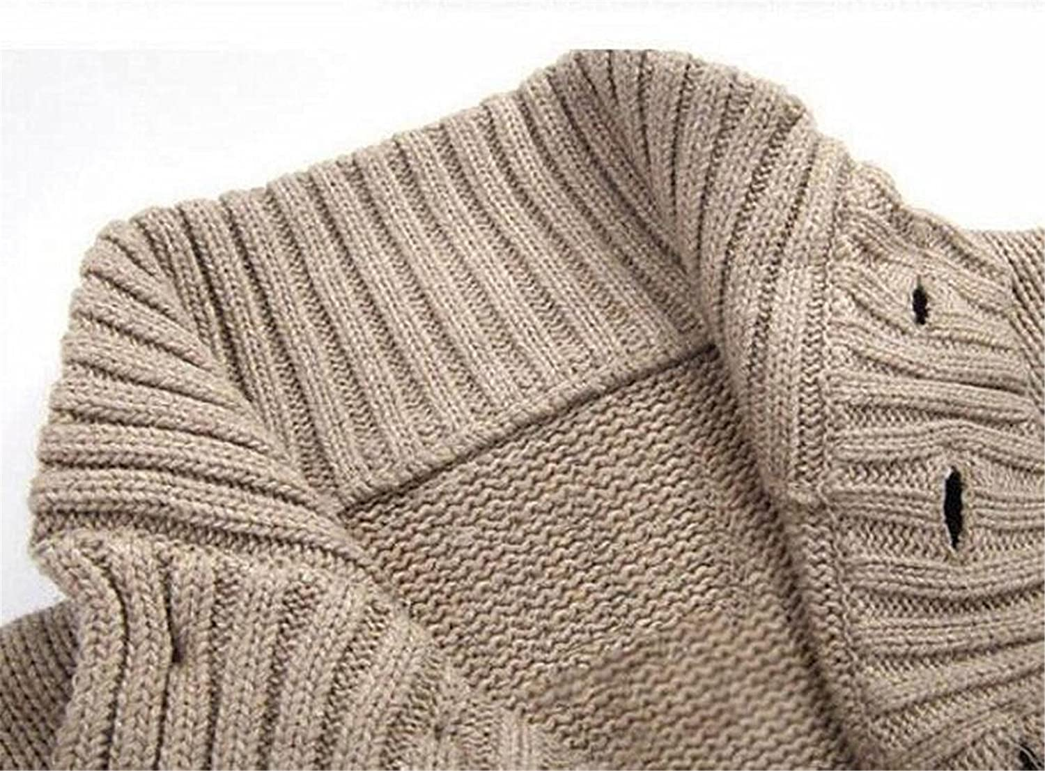 Kaured Stylist Mens Stand Collar Single Breasted Knitted Cardigan Sweater