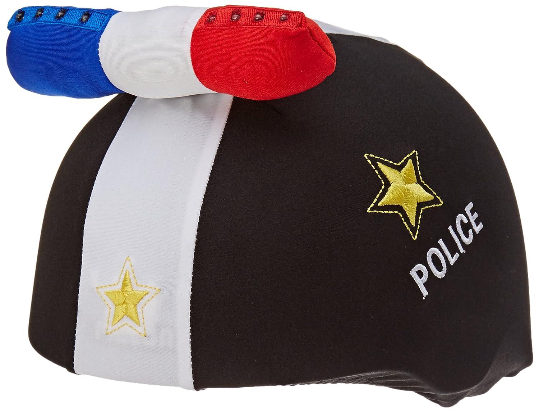 COOLCASC LED Police Couvre Casque Mixte Enfant, Multicolore COOUW|#Coolcasc CCLEP