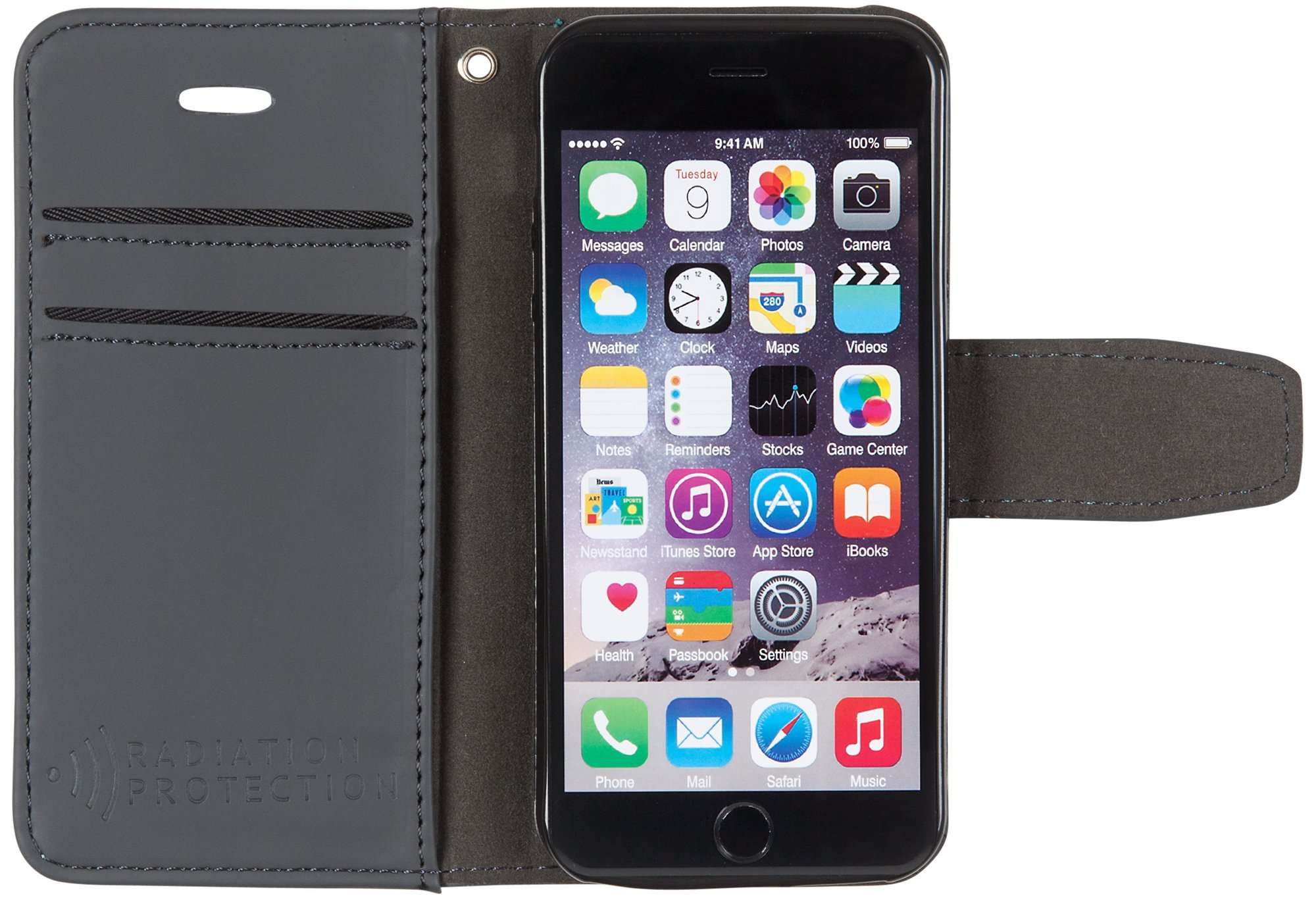 SafeSleeve iPhone 5c Cell Phone Radiation Blocker and RFID Wallet Case by (Grey)