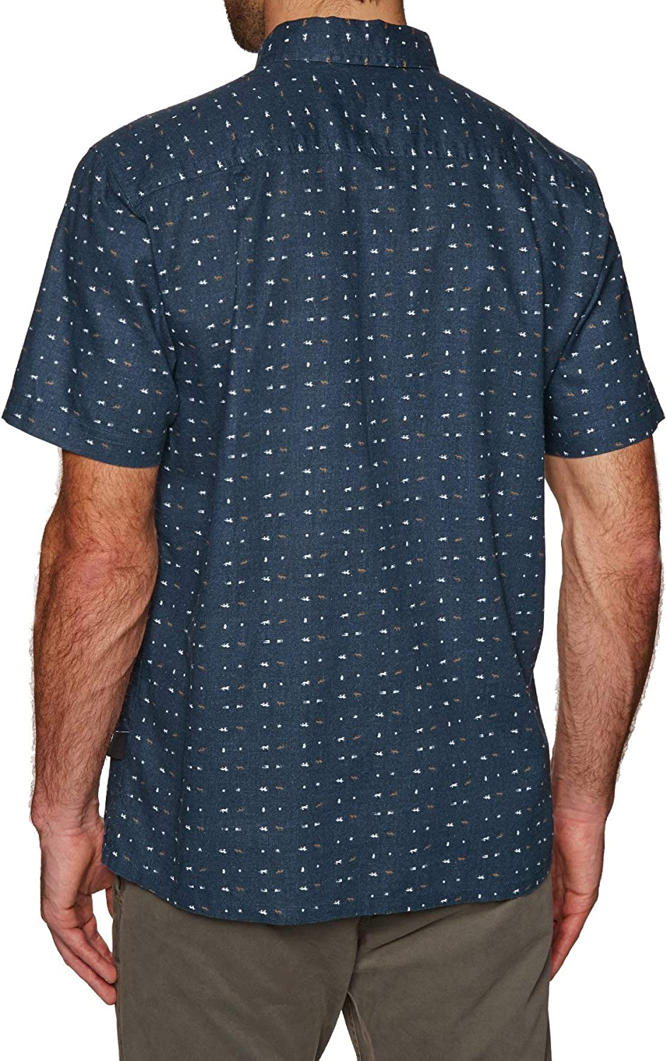 Patagonia Men's M's Back Step Shirt Short Sleeves Top Stone Blue
