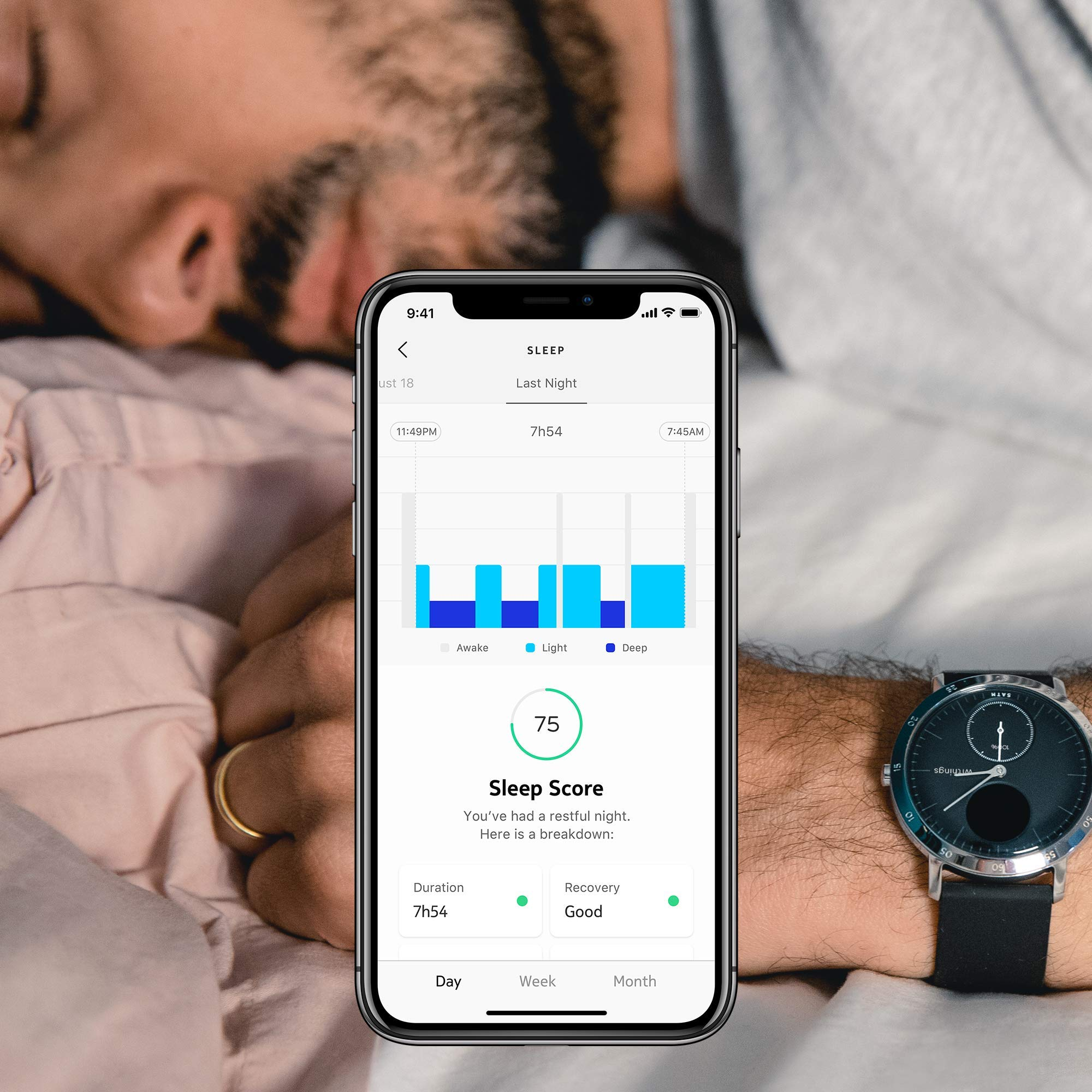 Withings / Nokia | Steel HR Hybrid Smartwatch - Activity Tracker with Connected GPS, Heart Rate Monitor, Sleep Monitor, Water Resistant Smart Watch with 25-day battery life (Renewed) by Withings (Image #5)