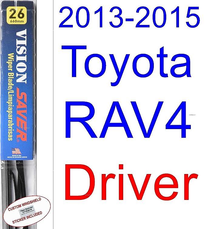 Amazon.com: 2013-2015 Toyota RAV4 Replacement Wiper Blade Set/Kit ...