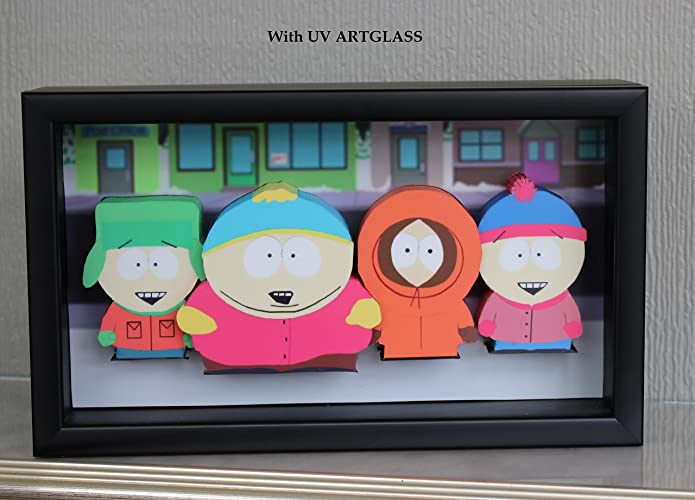 amazon com south park picture framed 3d art eric cartman kyle