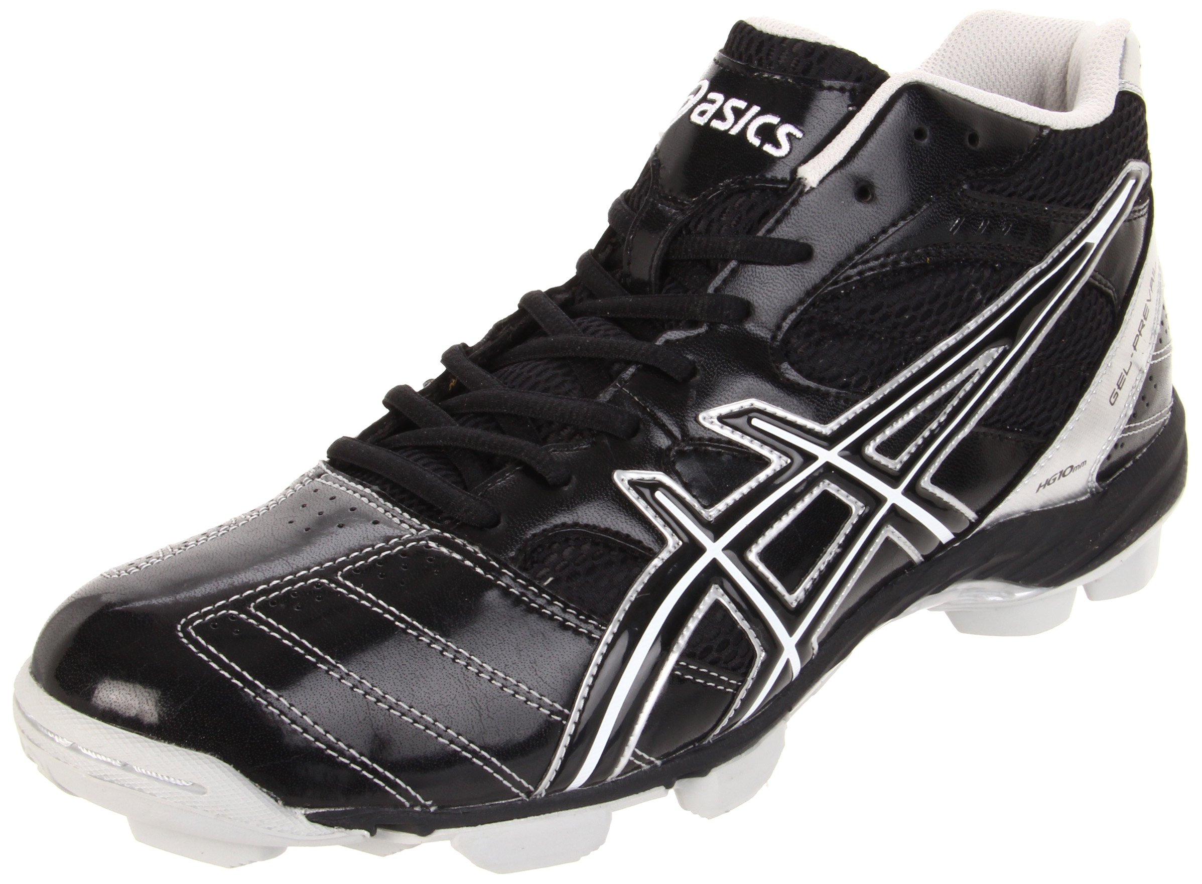 ASICS Men's GEL-Prevail Mid Lacrosse Shoe,Black/Silver,10 M US by ASICS