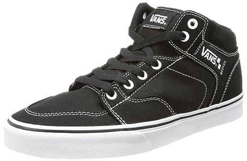 Vans M BROOKLYN (CANVAS) BLK/WHT - Zapatillas de cuero hombre, color negro, talla 41: Amazon.es: Zapatos y complementos