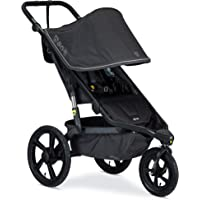BOB Gear Alterrain Jogging Stroller | Quick Fold + Adjustable Handlebar + XL UPF 50+ Canopy, Melange Black