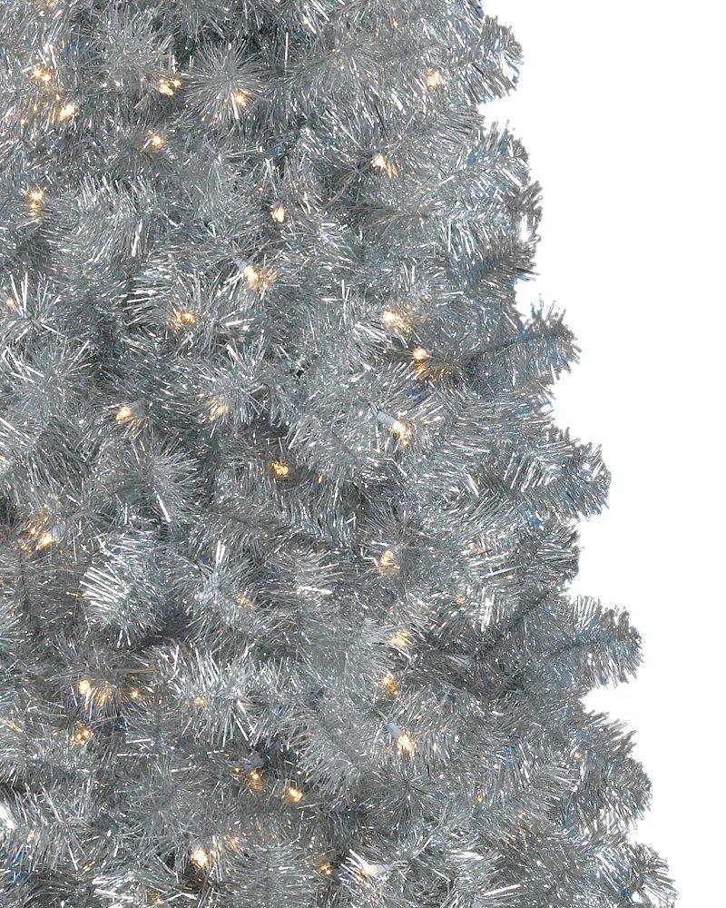 Amazon.com: treetopia Basics – Plata Árbol de Navidad ...